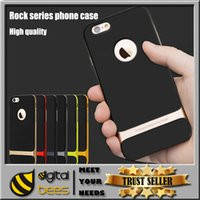 hard cover - For iPhone Rock New Hybrid Hard tpu pc caes Bumper Back Soft Rubber Back Cover Case For Cell phone iPhone Plus