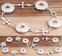 Wholesale DIY NOOSA Metal Button Charm Bracelet New Interchangeable Jewelry with Snap Buttons Styles for Choices