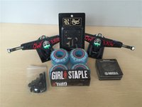 skateboard wheels - Skateboard Parts Royal Aluminum quot Skate Trucks And GIRL PU Skate Wheels Element ABEC Bearings