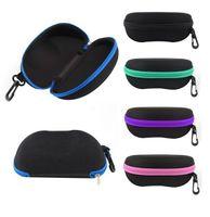 Wholesale pc Top sale Black Red Blue Purple Yellow Green Hard Zipper Case Box Glasses Eye glasses Sunglass Box