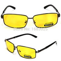 Wholesale Yellow Polarized Sunglasses Night Vision Driving Sport Eyewear Shade Glasses Googles UV