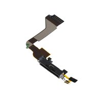 Cheap Charger Dock Connector Black Flex Cable for iPhone 4G FREE SHIPPING 111187C