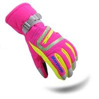 beauty gloves fabrics - New Arrival Winter Ski Gloves Waterproof Fabric Ciclismo Warm Softly Sports Gloves Purple Beauty Snowboard