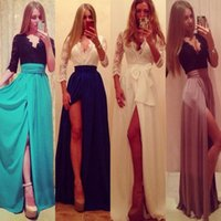 maxi dresses - Sexy Lady Lace Evening Wedding Chiffon Prom Ball Cocktail Party Maxi Dress Formal Evening Gown Dresses