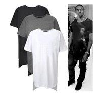 Wholesale Long High Low Tee New Fashion Hip Hop Man Summer Tops T shirt T Shirt Men Tyga Swag Clothing Clothes Kanye West