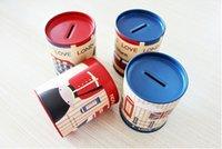 bank cash cute - Multifunctional Metal Pen Holder Saving Money Box Cute Cartoon Cash Box Piggy Bank Gift for Kid Friends