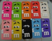 bean parts - obile Phone Accessories Parts Mobile Phone Bags Cases Fashion Cartoon M amp M S Chocolate Rainbow Beans soft cover silicon material p