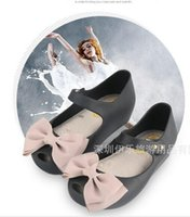 Wholesale so new mini melissa girls jelly sandals princess summer shoes baby soft bow sandals bowtie butterfly children shoes Bowtie Summesize