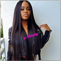 Natural Color 1b# half full - Silky Straight Full Lace Wigs with Baby Hair inch inch Brazilian Virgin Hair Wig Glueless Lace Front Wigs Full lace wigs for Black Women