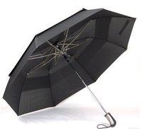 Wholesale Big diameter short closing car umbrella two fold golf umbrellas hex angular T steel shaft auto open double layer windproof self defense