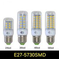 e27 led - Ultra bright LED bulb W W W W E27 E14 Warm Cool light LED lamp leds SMD lighting