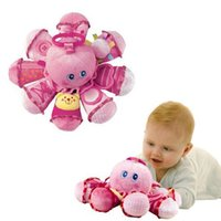 Wholesale 2015 Brinquedos New Baby Toys Early Learning Plush Octopus animal rings high quality Baby Rattles Mobiles Toy