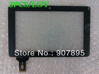 Wholesale 2PCS quot inch digitizer touch screen panel glass for Ainol Novo Crystal novo7 ELF elf2 elfi elfii tablet pc