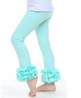 children tight pant - UPS Fedex Free Ship New Baby Girls Cotton Ruffles Leggings Pants Toddlers Children Baby Kids Girls Ruffle Leggings With Ruffled Y