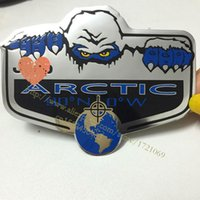 aluminum jeep parts - xterior Accessories Car Stickers new Metal Auto Refitting car Badge Emblem Decal Sticker ARCTIC Snow Decals parts suitable for Jeep