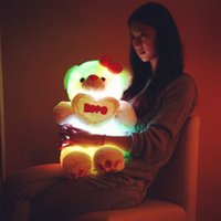 baby toy links - 80cm Soft Stuffed animals Link phone Ipad or mp3 Sounding Flashing luminous teddy bear doll Plush Toy Hold Pillow kids baby christmas gift