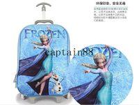 Wholesale Children s luggage trolley bag frozen stylish travel case