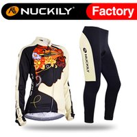 Wholesale Nuckily Flower pattern riding meditat girl design cycling set Anti UV with soft hand feeling female s long riding suit