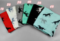 Wholesale Hot Animal print scarf new winter fashion Horse printed scarves scarves cm color