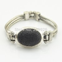Other animal crossing rock - B1222 Natural Lava Rock Volcano Stone Bracelet PC Vintage Look Volcano for Cuff bracelet bangle nice gift for women