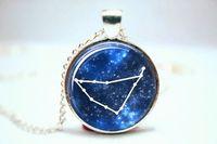 astronomy astrology - 10pcs Capricorn Zodiac Pendant Horoscope Astronomy Astrology Zodiac Glass Photo Cabochon Necklace