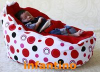 baby bean bag - baby bean bag baby beanbag bouncer infant sleeping bed RED DOTS