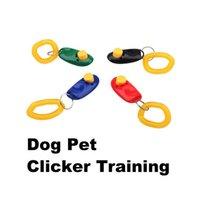 Wholesale New Arrival Pet Dog Training Aid Click Clicker Dog Trainer Aid Portable Wristband Bracelet Dog Training Clicker BHU2
