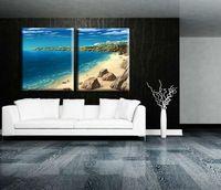 beach decor - Handicraft Modern Abstract Art Sofa background Seaview Beach Decor Oil Painting Landscape no frames