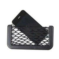 Wholesale Automotive Vehicle Glove Box Grid Type String Bag Car Phone Bill Pouch Debris Bags Black Color