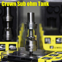 Single and Dual Vertical Coils 4ml Metal UWELL CROWN Sub Ohm Tank Temperature control Duall coils 0.2ohm 0.5ohm 1:1 clone VS Arctic Herakles Zephyrus Starre TFV4 Trion atomizer RDA