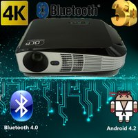 android video format - 2016 Full D Format HD Projector K LED Video TV DLP Beamer lumens x800 P Android Bluetooth Wifi Film Movies VGA HDMI USB