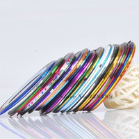 Wholesale 30 Colors Rolls Striping Tape Line Nail Art Sticker Tools Beauty Decorations DIY Nails Stickers NAILSK