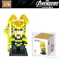 Wholesale 2016 new LOZ Thor Loki Diamond Nano DIY Building Blocks Bricks Action mini Figures Toys for Children