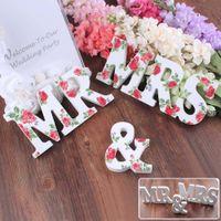 Wholesale 2015 Mr Mrs Wedding Sign H8 x W35cm wedding decoration Home Decor decoration Mr Mrs letters