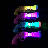 Wholesale 2015 Funny crazy LED Pistol Toys for children kids Party Holiday activities LED Gun TOY favorite LED Pistol shape toy Toys gift