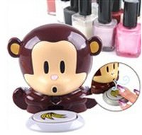 Cheap Novel Battery Powered Electronic Cute Monkey Style Nail Oil Manicure Pedicure Polish Blowing Dryer for Lady Girl