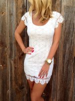 Cheap sexy lace dress Best white party dress