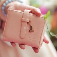 Wholesale 1 X Lady Women Lady Girls Lovely Kawaii Clutch Wallet Short Purse Small Bag Soft PU Card Coin Holder Colors