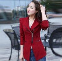 Wholesale Brand New Women Blazer Suit Jacket Casual Medium Long Woman Coat Spring Autumn Plus Size Blazers