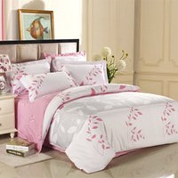 beds wicker - High Quality Bedding Set Pastoral Style Printed Wicker Beauty Bed Set Cotton Twill Duvet Covers Sheet Pillowcase