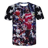 basketball shooting style - Raisevern new style D t shirt American famous basketball star Jordan shoot goal pattern print t shirt mens sportswear plus size