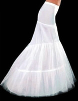 Wholesale Best Selling White Mermaid Petticoats Bridal Crinoline Underskirt for Wedding Gowns Bridal Accessories