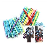 Wholesale 25PCS cm cm styles Plastic Hair Rollers Curler Spiral Magic Perm Rod Bars Salon Hairdressing Styling Tools Rotating Screw