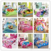 Wholesale Children Bed Set Fashion Kids Cute Cartoon Character Printing and Cotton Bed Set Hot Girls Beautiful and Comfortable Bed Set