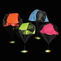 Wholesale Flashing Light Up LED UFO Parachute Toys for science fiction buffs UFO PARACHUTE retail box