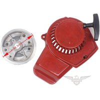 Wholesale 2015 Chinese Plastic Easy Recoil Pull Starter w Fly Wheel for cc Stroke Pocket Bike ATV Drop Shipping