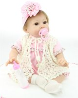 baby comfort nursery - 22inch Simulation Reborn Baby Lifelike Silicone Girl Alive Kids Women Nursery Training Collect Toys