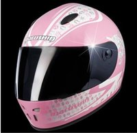 authentication types - ECE authentication helmets Motorbike helmet off road helmet Light type motorcycle helmet marushin Pink statue