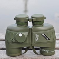 Binoculars Rangefinder - x50 powerful waterproof military boating optics binocular telescope with compass rangefinder shockproof binoculars with bak4