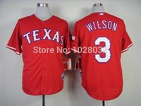 authentic russell wilson jersey - 2016 New Authentic Texas Rangers Jersey Russell Wilson Jersey Red White Blue Baseball Jersey Embroidery TOP Quality Cheap